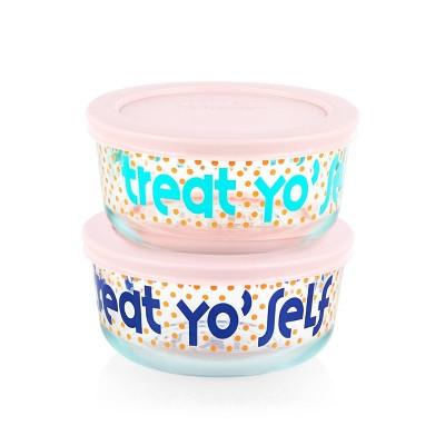 Pyrex 2 Cup 2pk Round Food Storage Container Set - Treat Yo Self