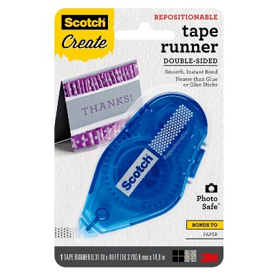 Scotch Create Repositionable Double-Sided Photo Safe Tape Runner