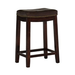 Brilliant Belvidere Faux Leather Saddle Counter Stool Espresso Faux Cjindustries Chair Design For Home Cjindustriesco