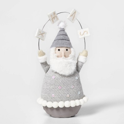 Table Top Santa Gray & White - Wondershop™