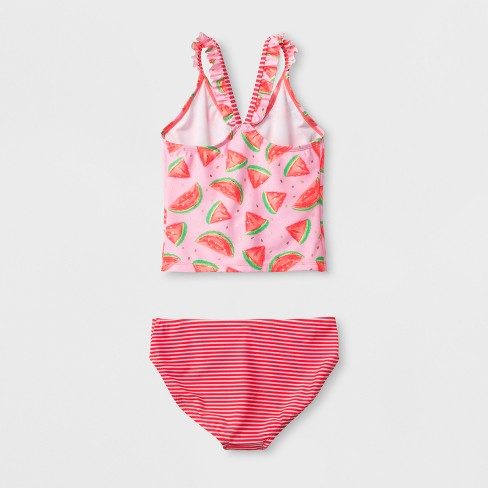 64d70d5532 Girls  Watermelon Time Tankini Set - Cat   Jack™ Pink   Target
