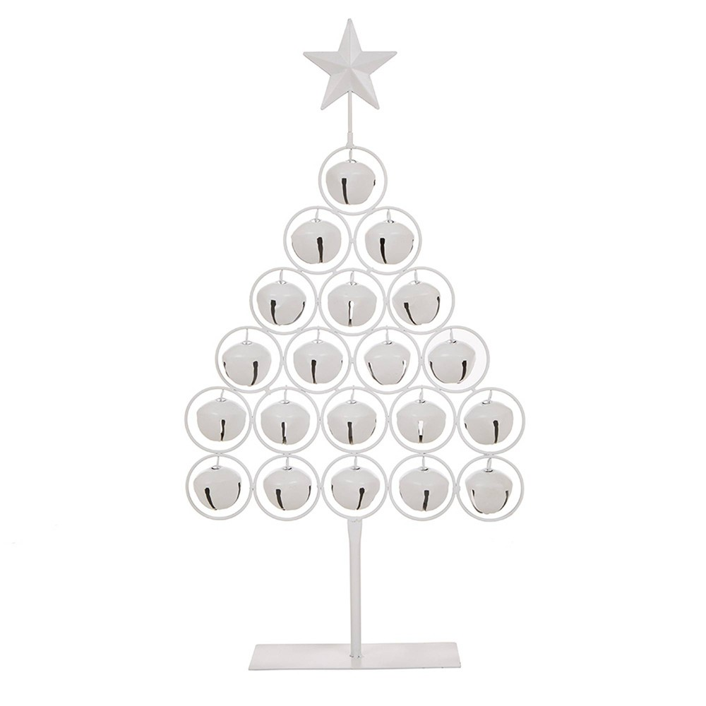 "Image of ""21"""" Iron Bell Table Tree - Glitzhome"""