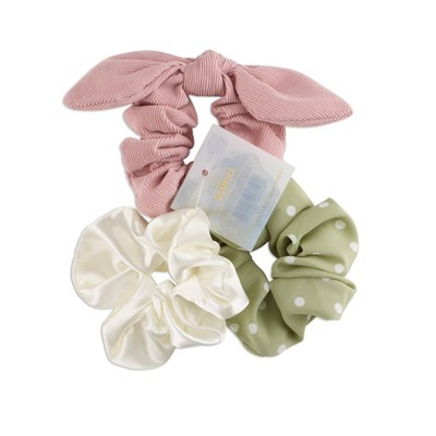 scunci Scrunchies with Tails - Mint - 3pk