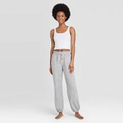 Women's Leopard Print Jogger Pants - Colsie™ Gray