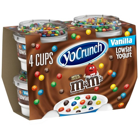 YoCrunch M&M's Vanilla Low Fat Yogurt - 4oz/4ct - image 1 of 4