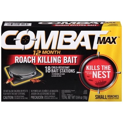 Combat Max 12 Month Roach Killing Bait Small Roach Bait Station - 18ct