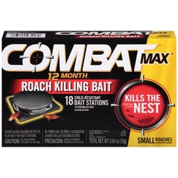 Combat Max 12 Month Roach Killing Bait, Small Roach Bait Station, 18ct