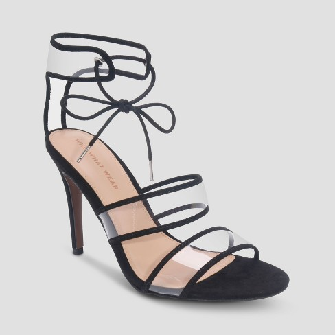 Women's Jolie Ankle Strap - Who What Wear™ Black - image 1 of 3