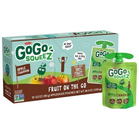 GoGo squeeZ Applesauce, Apple Cinnamon - 3.2oz/12ct - image 1 of 4