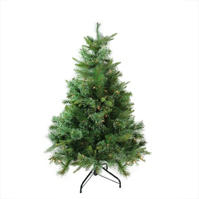 Northlight 4.5' Prelit Artificial Christmas Tree Ashcroft Cashmere Pine Full - Clear Dura Lights