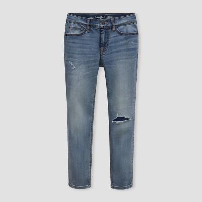 Boys' Super Stretch Distressed Slim Fit Jeans - Cat & Jack™ Light Blue