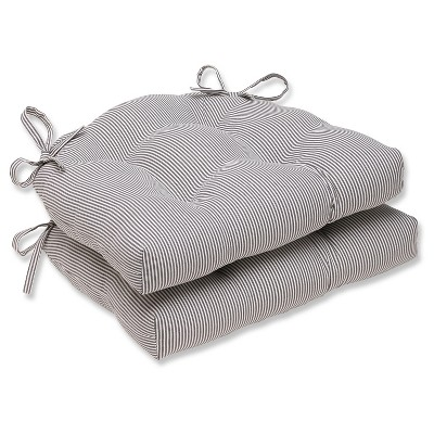 Gray Oxford Reversible Chair Pad (Set Of 2)(16.5 X15.5 )- Pillow Perfect