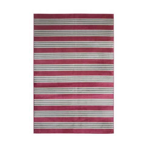 Abacasa Sonoma Tomkin Raspberry-Light Blue-Ivory 8x11 Area Rug - Sam's International - image 1 of 3