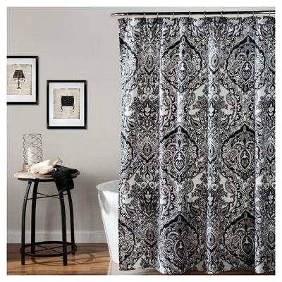 Aubree Shower Curtain Black/ White - Lush Decor®
