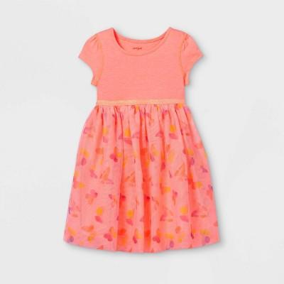 Toddler Girls' Adaptive Abdominal Access Butterfly Tutu Dress - Cat & Jack™ Moxie Peach