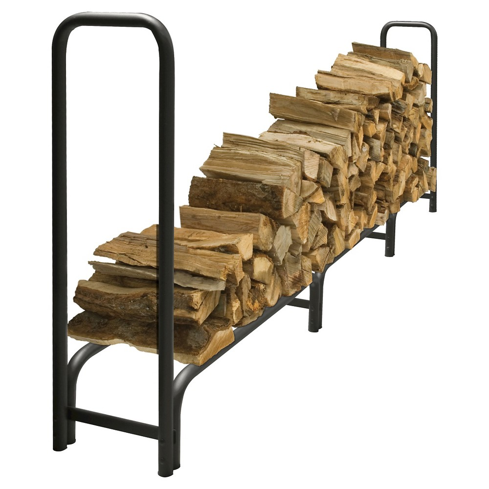 Pleasant Hearth 12' Heavy Duty Log Rack - Black