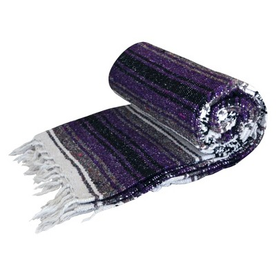 DragonFly Studio Mexican Cotton Blanket- Purple