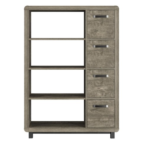 "52"" Drexel Bookcase with Bins - Brown - Room & Joy - image 1 of 12"