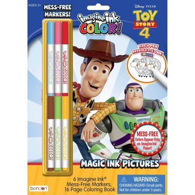 Toy Story 4 Imagine Ink Coloring Book with Mess-Free Magic Ink Markers - Bendon
