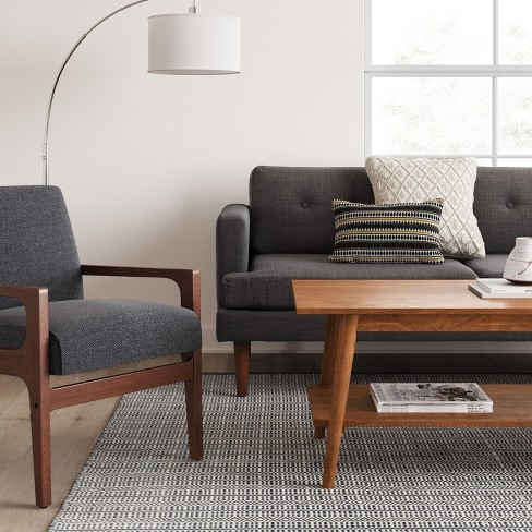 amherst mid century modern coffee table brown - project 62™ : target