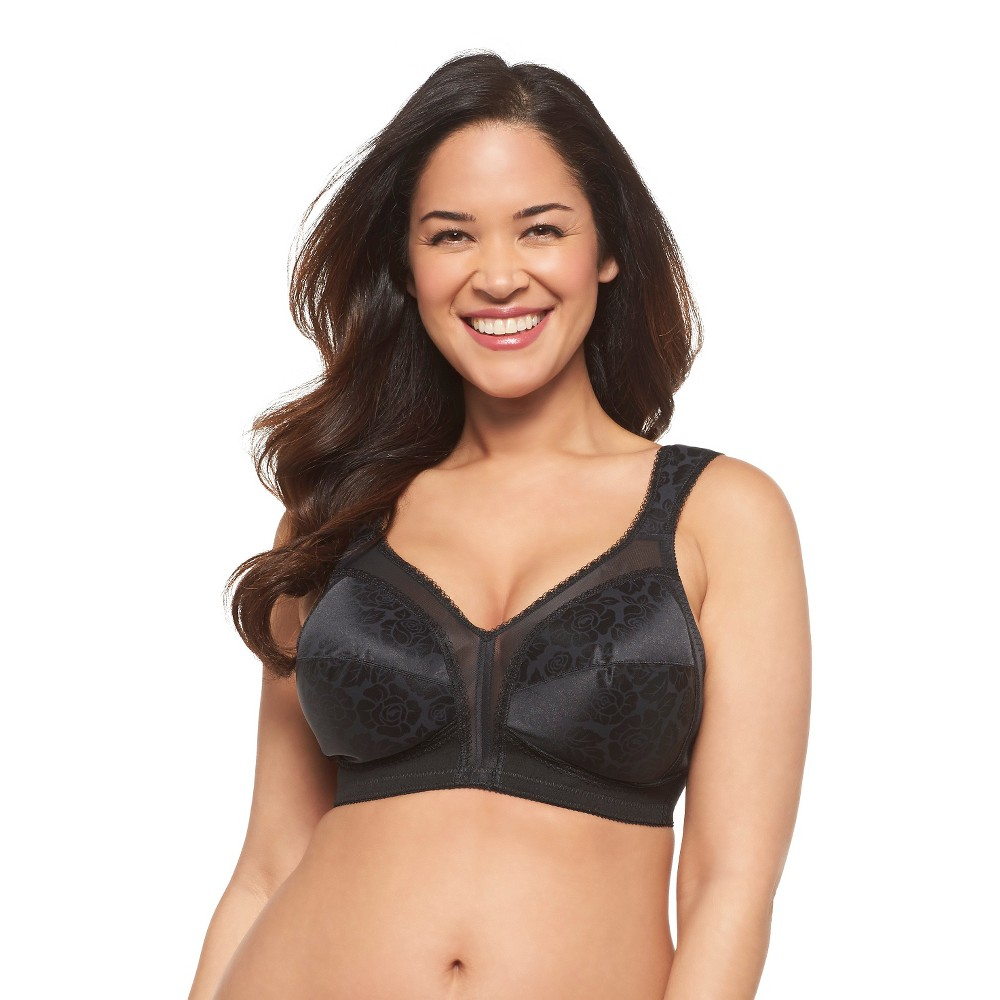 Playtex 18 Hour Womens Original Comfort Strap Wireless Bra 4693 Black - 46C Discounts
