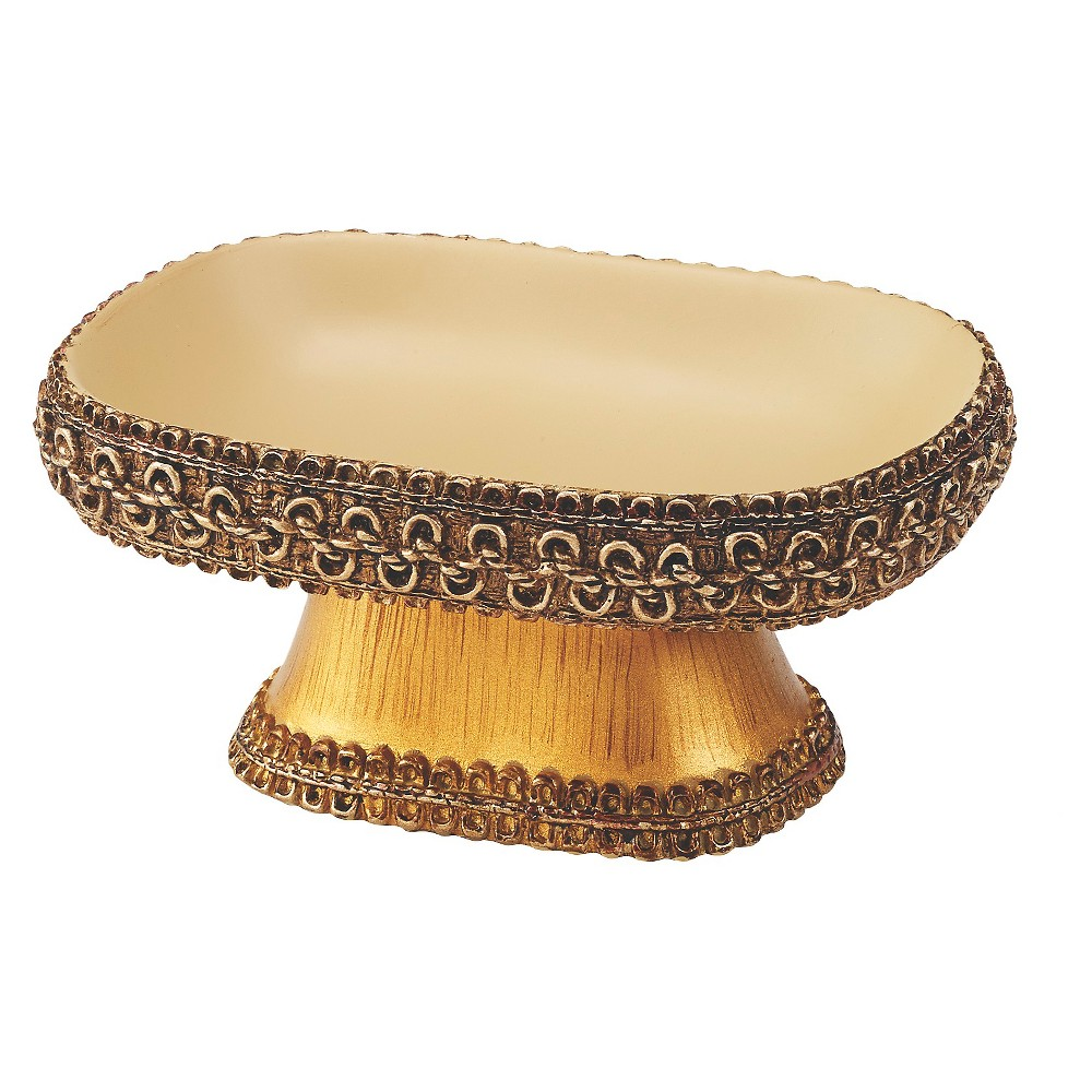 Image of Avanti Braided Medallion Soap Dish - Rattan