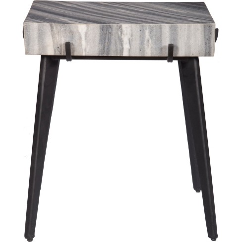 Marble And Iron Accent Table Gray - Treasure Trove - image 1 of 4