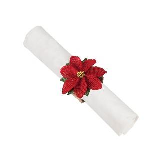 Gallerie II Poinsettia Napkin Ring : Target