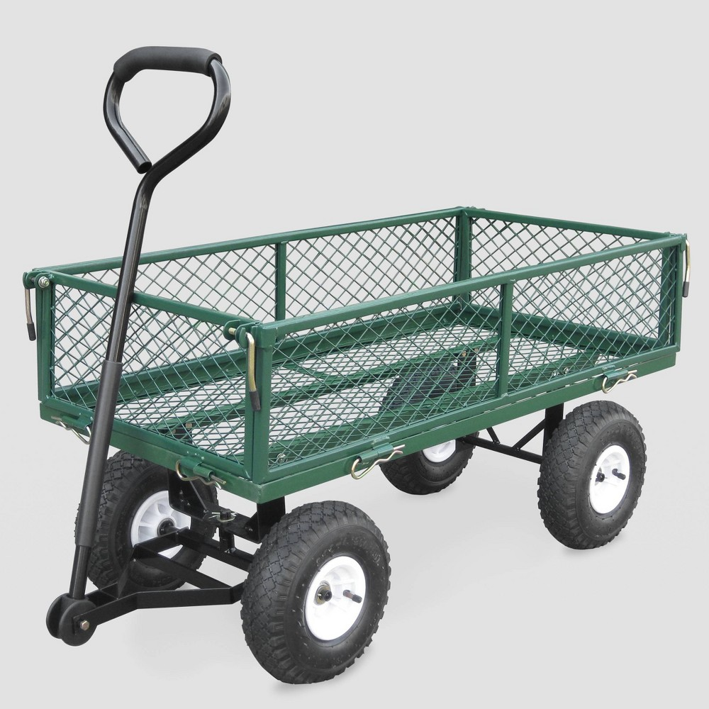 "Image of ""38"""" Garden Steel Cart Green - Bond"""