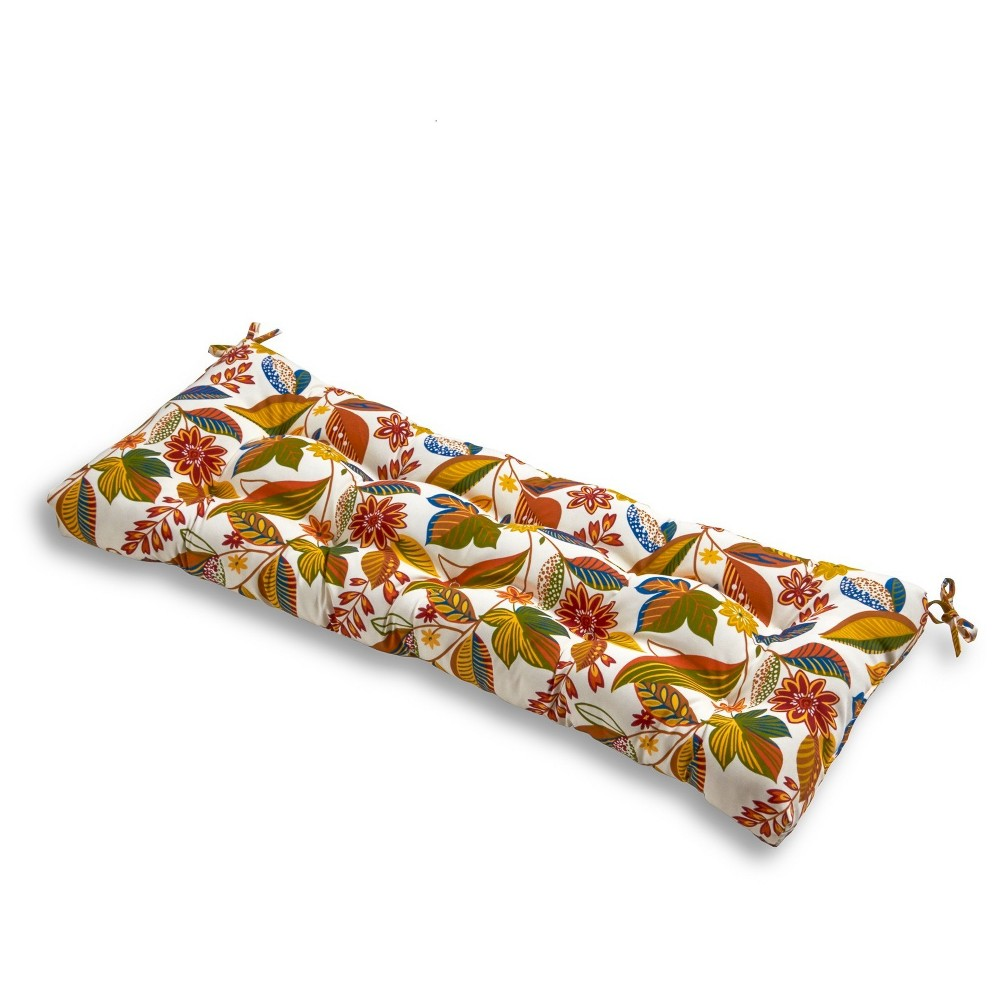Image of Esprit Floral Outdoor Bench Cushion - Greendale Home Fashions
