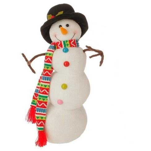 "Raz Imports 21"" White and Black Posable Snowman Christmas Decor - image 1 of 1"