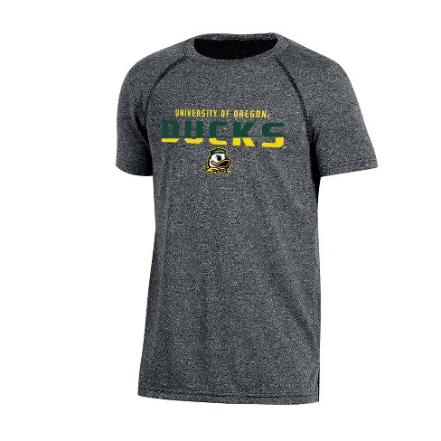Oregon Ducks Boys Short Sleeve Crew Neck Raglan Performance T-Shirt - Gray Heather - image 1 of 1
