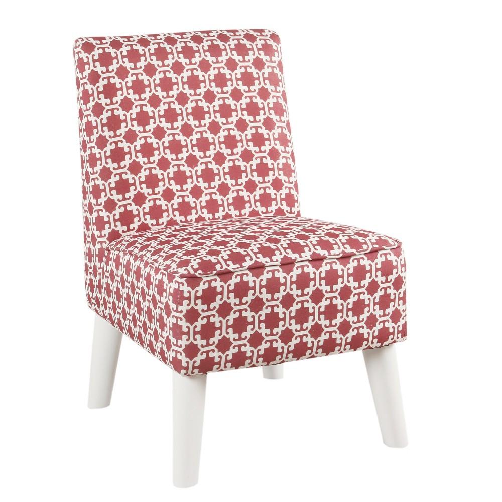 Kids Modern Slipper Chair Pink/White Lattice - HomePop was $149.99 now $112.49 (25.0% off)