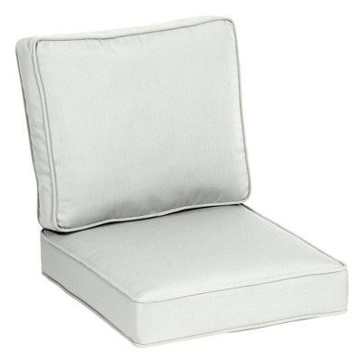 2pc Plush Deep Seat Cushion Set - Arden Selections
