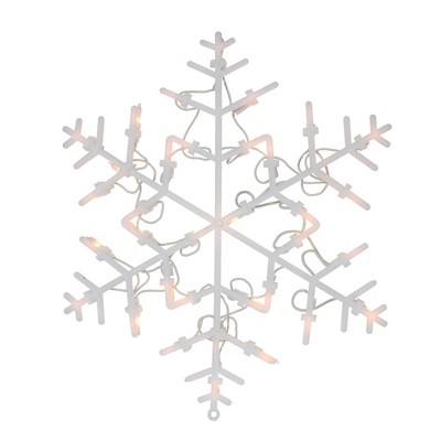 "Northlight 13.5"" Lighted Snowflake Christmas Window Silhouette Decoration"