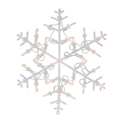 "Northlight 13.5"" Lighted Snowflake Christmas Window Silhouette Decoration"