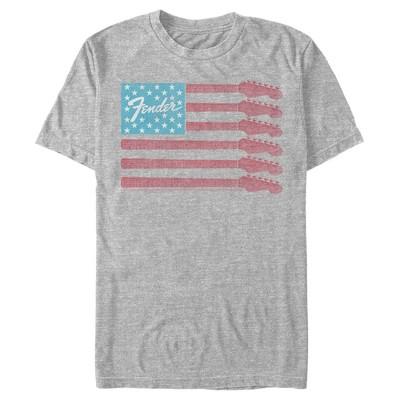 Men's Fender Guitar Flag Logo T-Shirt