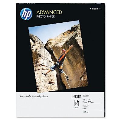 HP Advanced Photo Paper 56 lbs. Glossy 8-1/2 x 11 50 Sheets/Pack Q7853A