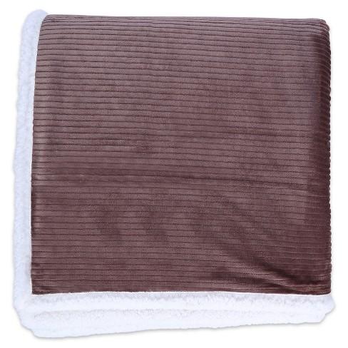 Dobby Velvety Plush Sherpa Blanket - Better Living® - image 1 of 1