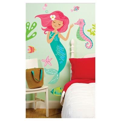 Mermaid Wallplay Peel & Stick Wall Decal 2 Sheets - Wallies