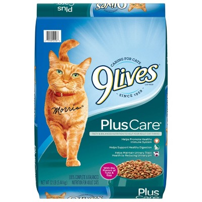 9 Lives Plus Care with Tuna & Egg Complete & Balanced Dry Cat Food - 12lbs