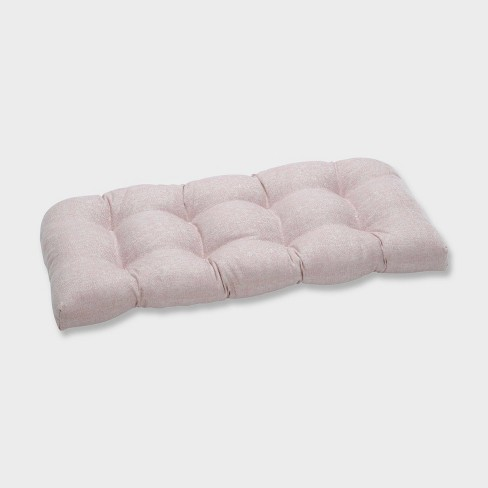 Chartres Rose Wicker Outdoor Loveseat Cushion Pink - Pillow Perfect - image 1 of 1