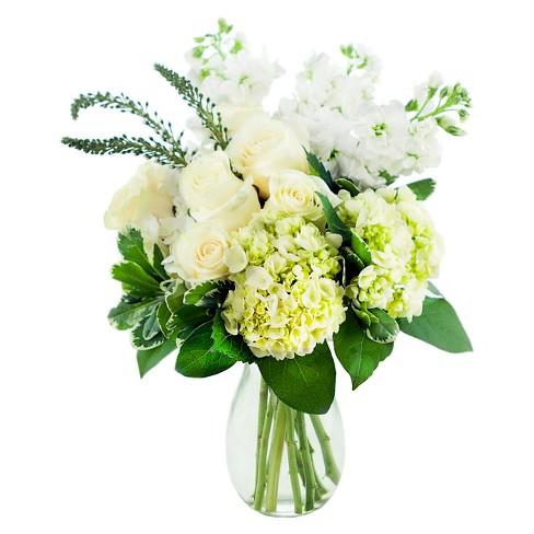 Kabloom Chic White Hydrangea Mix Fresh Flower Arrangement With