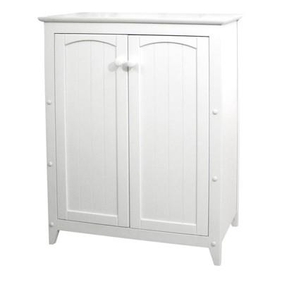 Wood 2 Door Storage Cabinet in White-Pemberly Row