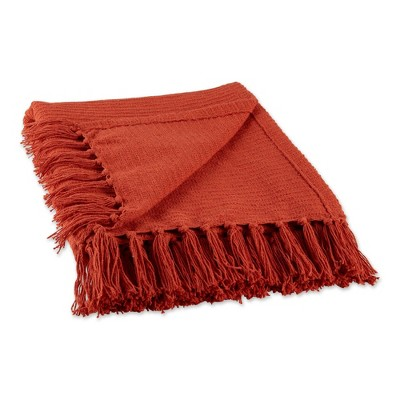 """50""""x60"""" Solid Ribbed Throw Blanket - Design Imports"""
