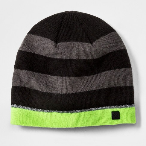 Boys  Stripe Beanie - C9 Champion® Black Gray One Size   Target 2032cb3ac6d