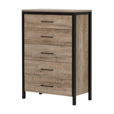 Munich Vertical Dresser Weathered Oak - South Shore