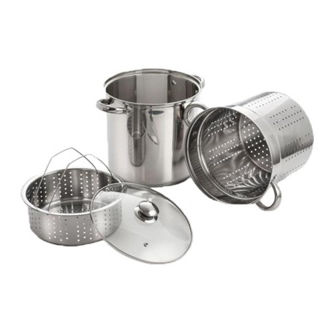 ExcelSteel 4 Piece 12 Qt Stock Pot Stainless Steel Steamer Multi Cookware Set - image 1 of 1
