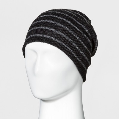 90edd78983d Men s Striped Rib Reversible Beanie - Goodfellow   Co™ ...