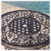 Cole 3pc Cast Aluminum Patio Bistro Set - Bronze - Christopher Knight Home - image 3 of 4